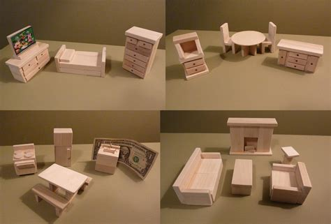 Wooden Dollhouse Furniture Patterns