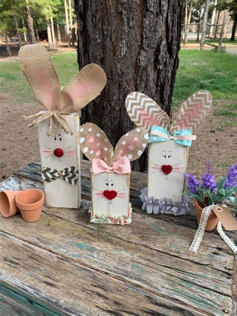 Wooden Easter Bunny Patterns Crafts For Kids