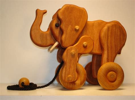Wooden Elephant Pull Toy Plans