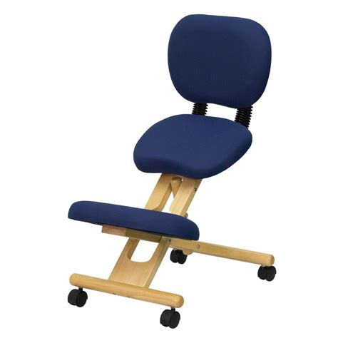 Wooden Ergonomic Kneeling Posture Office Chair With Reclining Back