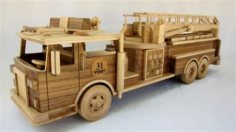 Wooden Fire Truck Toy Plans That Are Big