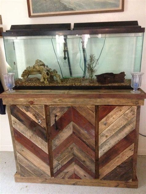 Wooden Fish Tank Stand Design