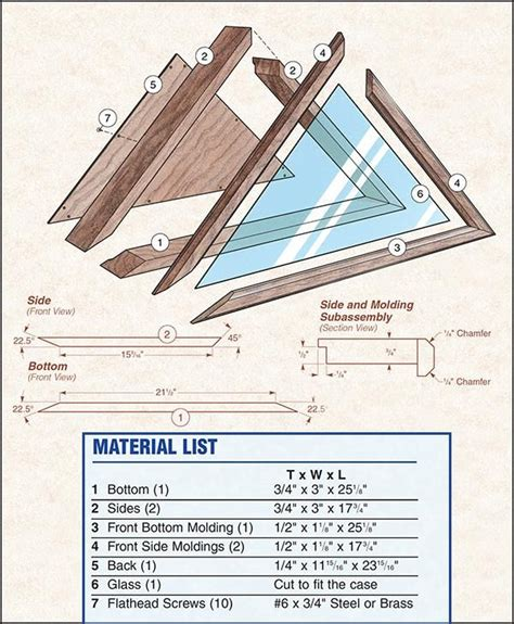 Wooden Flag Holder Case Plans