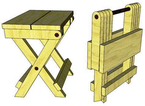 Wooden Folding Camp Stool Plans