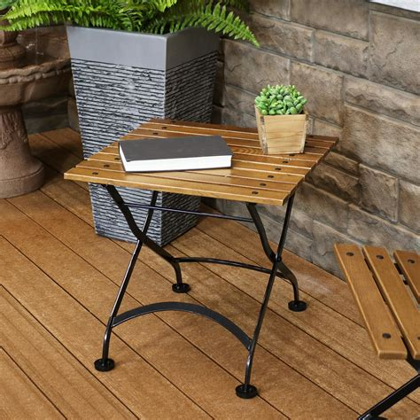 Wooden Folding Side Table