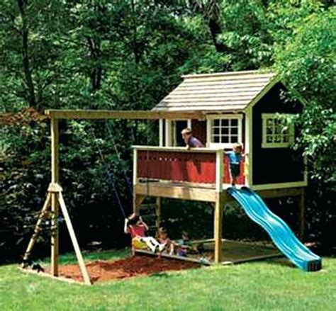 Wooden Fort Playhouse Plans