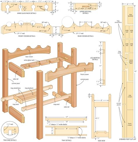 Wooden Free Wine Rack Woodworking Plans