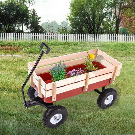 Wooden Garden Carts And Wagons