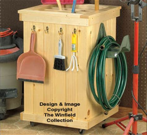 Wooden Garden Tool Caddy Plans