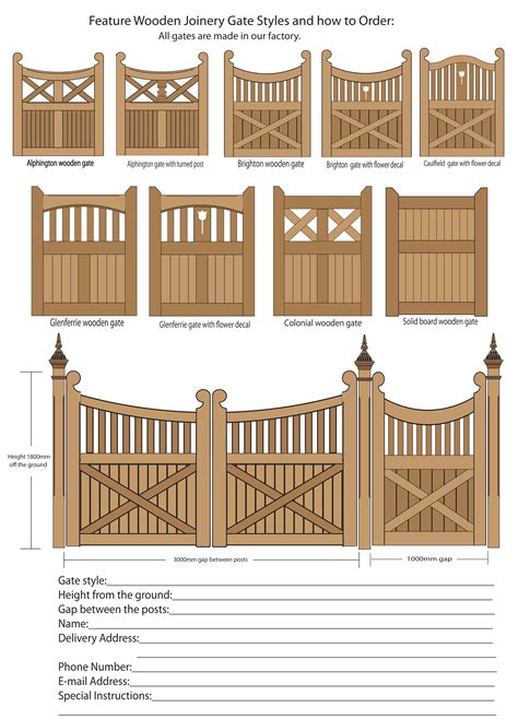 Wooden Gate Construction Plans