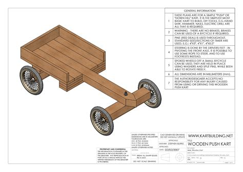 Wooden Go Kart Design