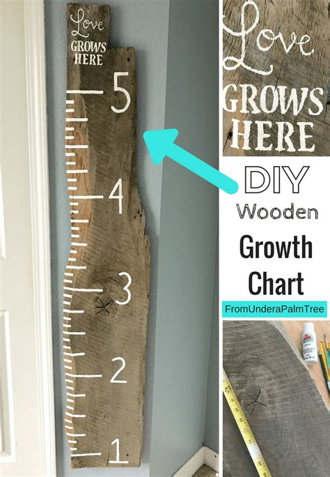 Wooden Growth Chart Diy