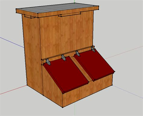 Wooden Hog Feeder Plans