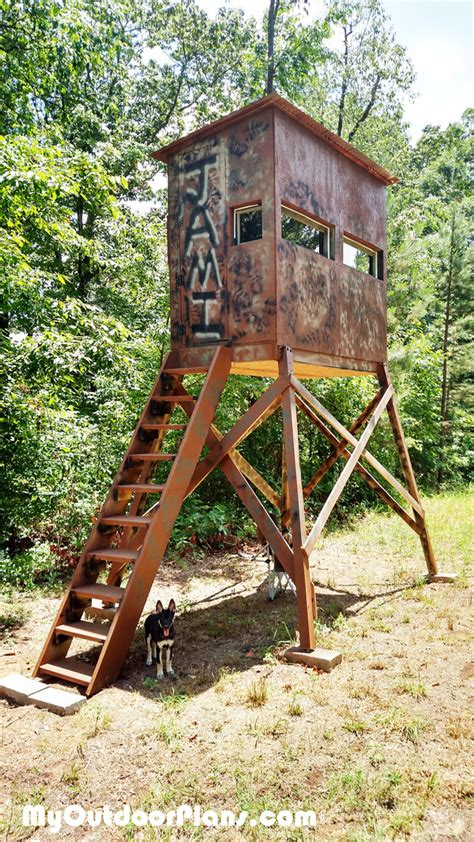 Wooden Homemade Hunting Blind Plans