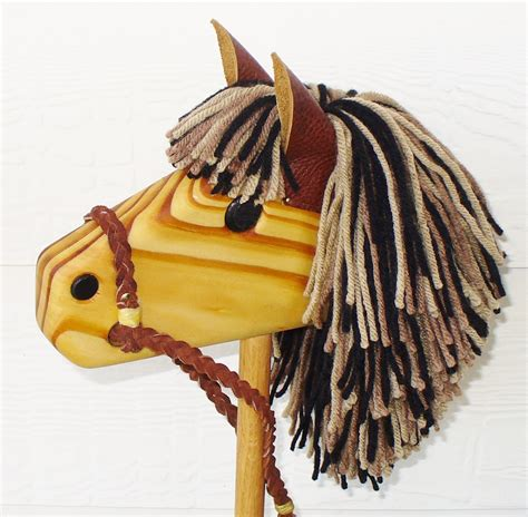Wooden Horse On A Stick Toy That Makes