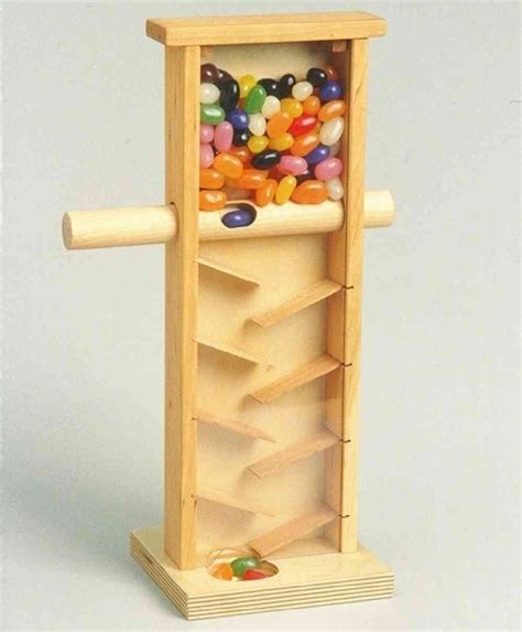 Wooden Jelly Bean Dispenser
