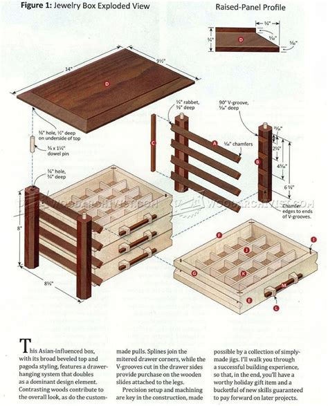 Wooden Jewelry Box Plans PDF
