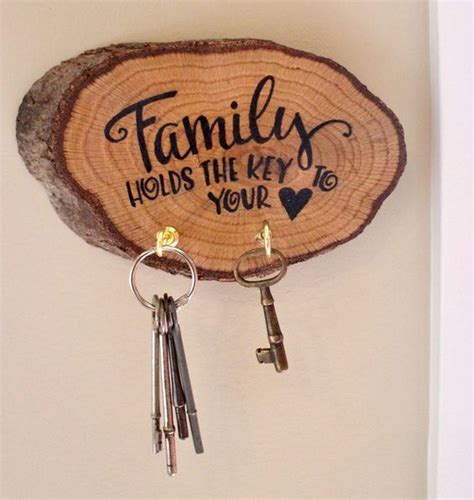 Wooden Key Holder For Wall DIY
