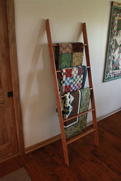 Wooden Ladder Quilt Rack Plans