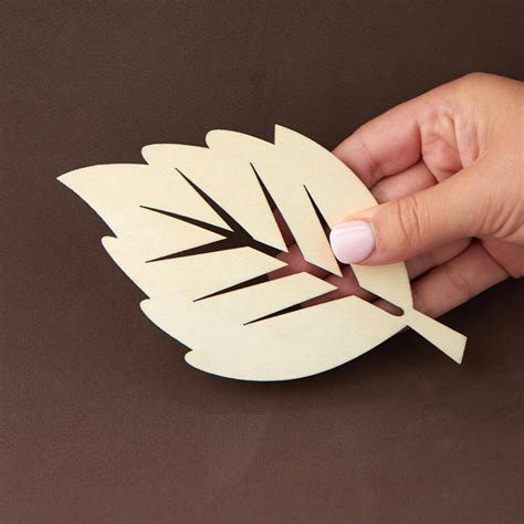 Wooden Leaves For Crafts