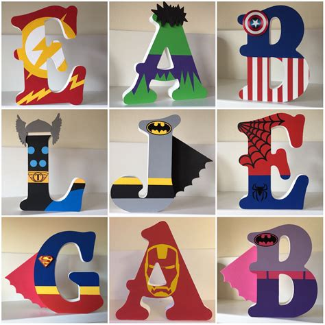 Wooden Letters Superhero DIY