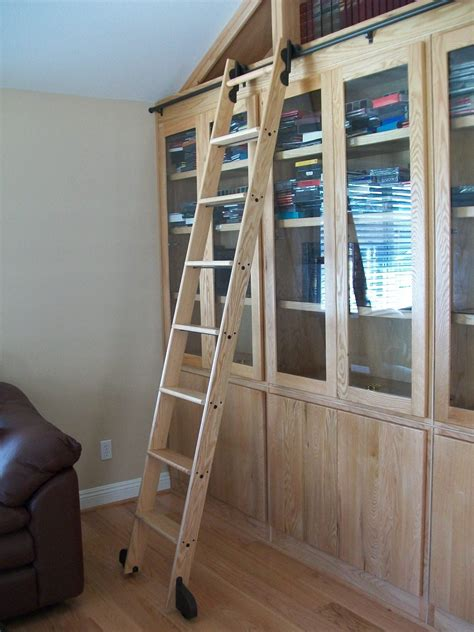 Wooden Library Ladder Plans
