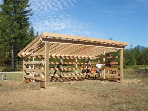 Wooden Loafing Shed Plans