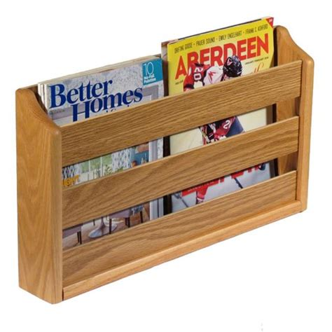 Wooden Mallet 20 Pocket Wall Mount Magazine Rack