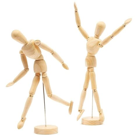 Wooden Mannequin Art Projects