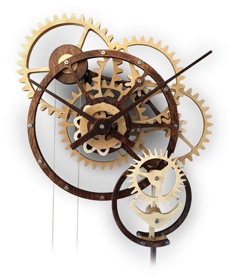 Wooden Mechanical Clock Patterns