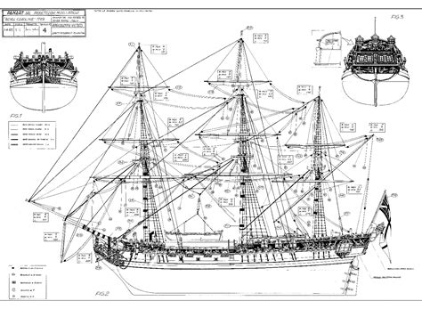 Wooden Model Battleship Plans Drawings