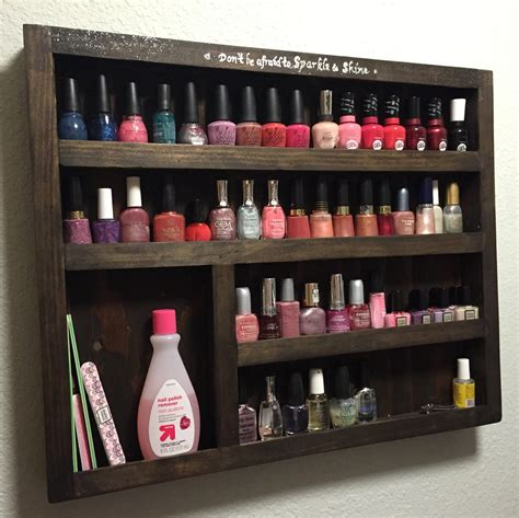 Wooden Nail Polish Rack Plans