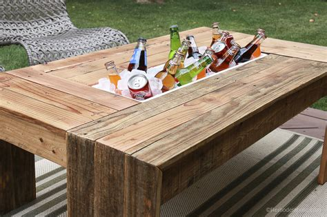Wooden Outdoor Table Diy Drink