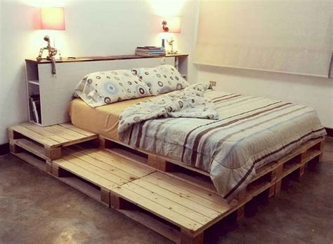 Wooden Pallet Platform Bed Diy Designs