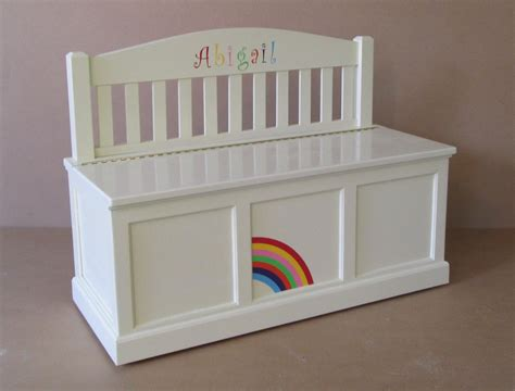 Wooden Personalized Toy Chest Bench