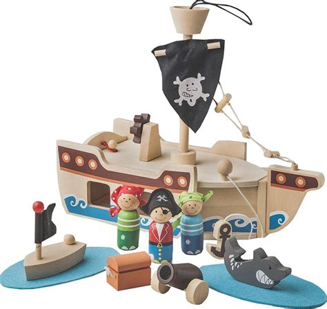 Wooden Pirate Ship Playset