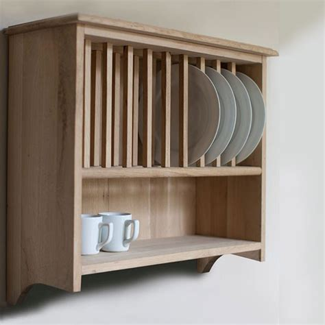 Wooden Plate Rack Wall Mounted UKfcu