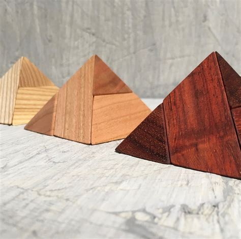 Wooden Pyramid Puzzle Plans