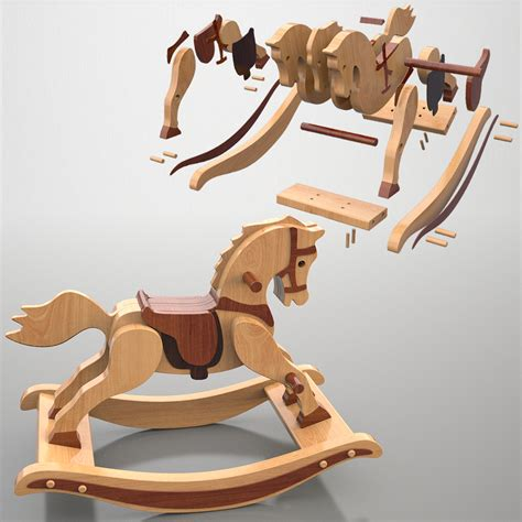 Wooden Rocking Horse Blueprints For Minecraft