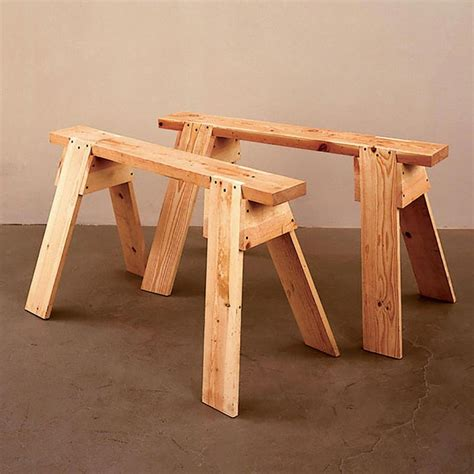 Wooden Sawhorses Plans