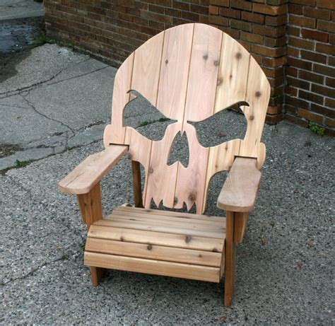Wooden Skull Adirondack Chair Plans