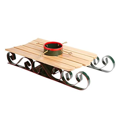 Wooden Sleigh Christmas Tree Stand
