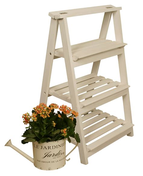 Wooden Step Ladder Planter