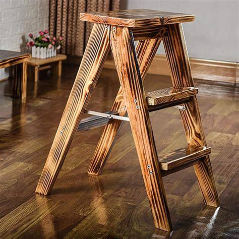 Wooden Step Stool Ladder
