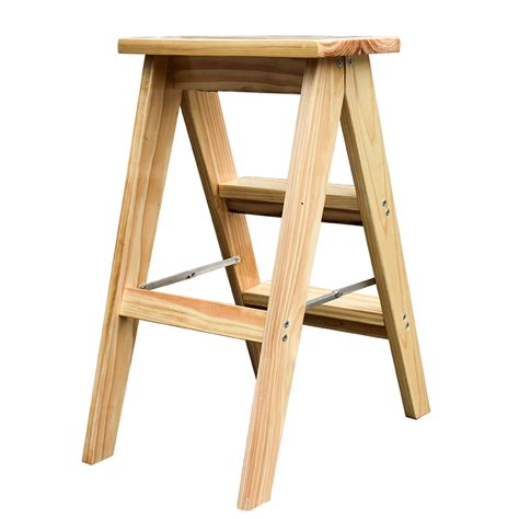 Wooden Step Stools Folding