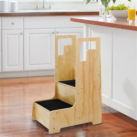 Wooden Step Stools With Handles