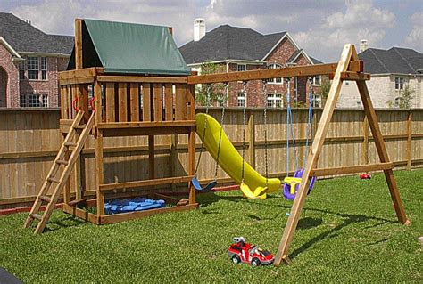 Wooden Swing Set Fort Plans Do it yourself