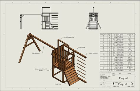 Wooden Swing Set Plans With Materials List