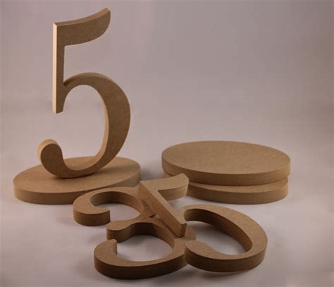 Wooden Table Numbers Diy