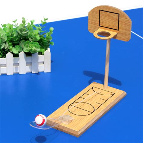 Wooden Tabletop Basketball Game Plans